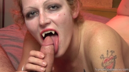 Nymph Goddess Ivy's Vampire Blowjob Halloween 2018 Edition