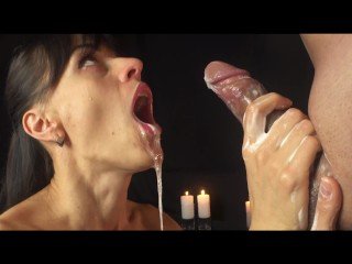 Multiple cumshots She knows how to do handjob