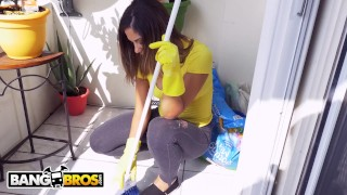 BANGBROS - Brick Danger's New Latin Maid, Mariah, Gets The Job Done Doggy style