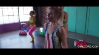 Orgy aerobics squirting to leads girlcore lesbian class lesbian lesbian