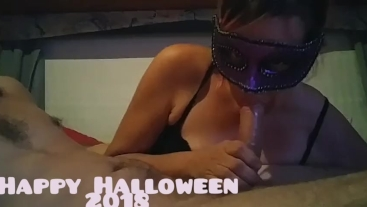 Sucking Cock While Watching Porn.. Happy Halloween