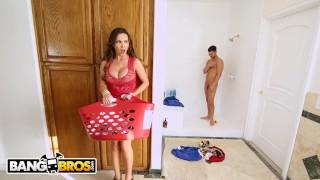 BANGBROS - MILF Nikki Benz Fucks Abella Danger and Seth Gamble Interracial squirting