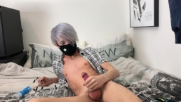 Cute Little Femboy Jerks Off & Cums