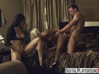 Digital Playground – Vicki Chase watches Jessie Volt & Erik Everhard fuck