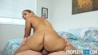 Busted her fucks for smoking blonde curvy roommate propertysex cock eviction