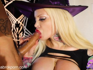 Sabrina Sabrok dick reader sexy witch halloween costume