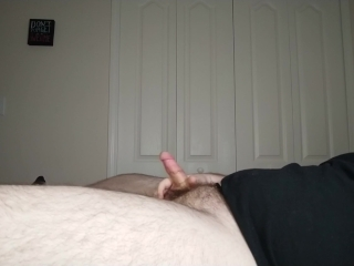 Chubby Virgin Milks His Cock After A Long Day of Edging