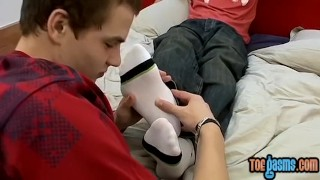 Young other worshiping feet each adoring men uncut fetish
