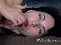 Aglaya has wild orgasms after masturbating