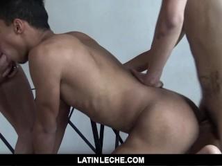 LatinLeche - Venezuelan Cocksucker takes double facial