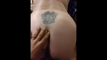 Riding daddy's cock