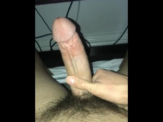 Cumshot after watching sexy hot porn video