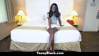 TeenyBlack - Young Black Teen Loves Sex And Money Fingering babe