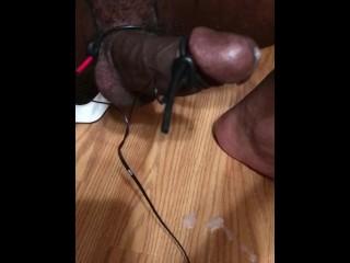 Hand Free Orgasm Cum Hard E-Stim Shocking