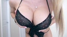 Bombshell Black Lingerie Strip - Katie Banks