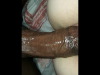 Friend can't stop squirting on my BBC