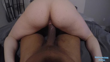 POV Reverse Cowboy BBC Rough Sex