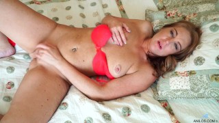 Russian mom Marta sunk into cream filled of her cock hung bare twat