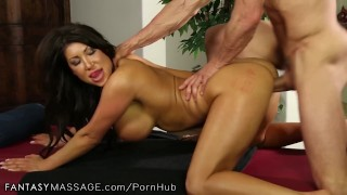 FantasyMassage Officer August Taylor Shows Up At Tommy Gunn's Place Canadian brunette