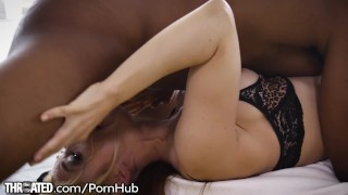 THROATED MILF Sarah Vandella Vs. BBC! Mother milf