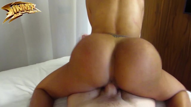 Ebony Oiled Doggystyle Pov