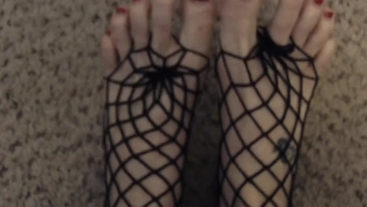 Jane Cane's Fishnets and Heels Panty Stuffing