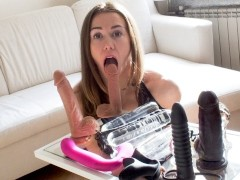Double penetration with ass to mouth and anal masturbation big adult toys