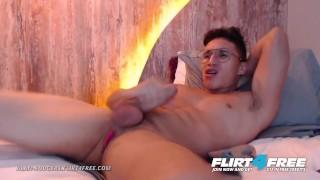 Alan Rodgers on Flirt4Free - Glasses and Braces Boy Next Door Has Huge Cock