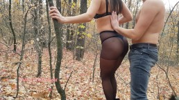 OUTDOOR ! My classmate fuck me in the woods after shcool 4K - Nicky Mist