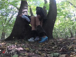 Fucking a stranger in the forest after a running session. 4K WetKelly