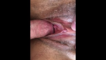 Fuck Wife's Hairy Pussy Extreme Closeup