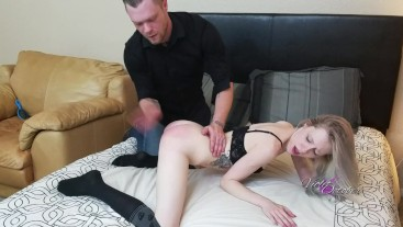 caught masturbating and spanked by cute roommate