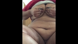 Look at my fat pussy CLOSE UP WITH MY MILKY TITS. A LOT OF MILK FETISH.