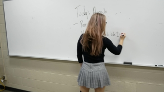 Fucking my professor and cumming in her tights before class