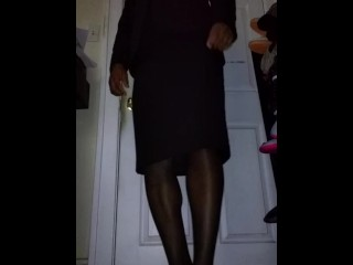 Crossdresser/crossdresser a business suit in