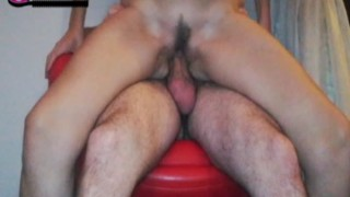 chair creampie for a young milf