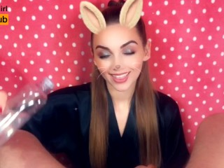 Snapchat POV Oil Jerk OFF | Swallow Cum | Sexy Bunny