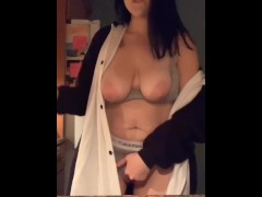 Almost Caught Masturbating in the Kitchen