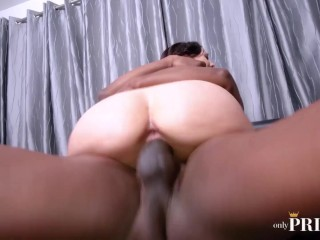 HARLOW HARRISON DRIPPING CREAMPIE IN COWGIRL AFTER SOME ROUGH BBC ANAL SEX