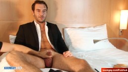 Handsome str8 dude's dick massage! (hetero male seduced for gay porn)