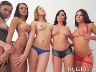 Double penetration/big tits/party mouth dp orgy in
