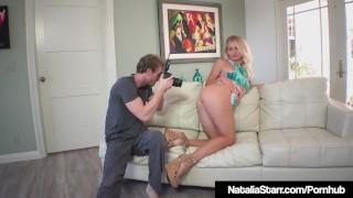 Fine Feline Natalie Starr Fucks Photographer! Blowjob fake