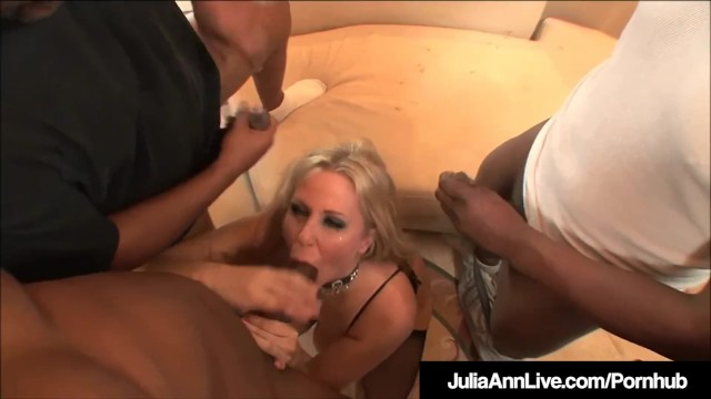 Julia bond massive facial - Milf julia ann anal fucked facialed by 4 big black cocks