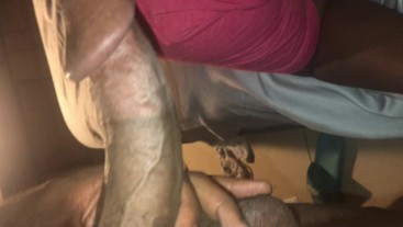 Sucking A Big Mushroom Head BBC - BBC Blowjob/ Throat Fuck