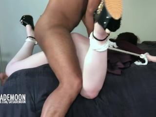 Innocent Redhead Throat Fucked and Spanked * JayJadeMoon Amateur Couple