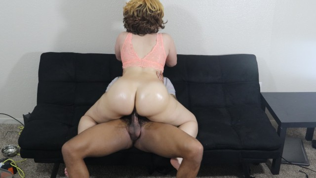 Big Booty Light Skin Slut Bounces Her Bubble Butt On Bbc -5435