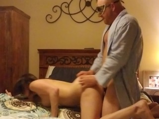 Halloween fucking quickie fucked by masked man