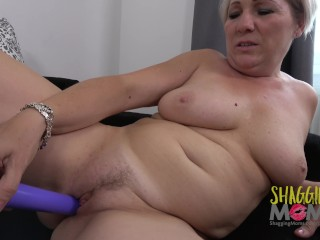 Purple Dildo Gives Mature Woman Ultimate Solo Masturbation Pleasure