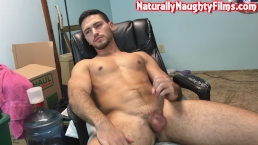 Handsome Young Man Enjoys His Juicy Cock Until He Cums On Himself