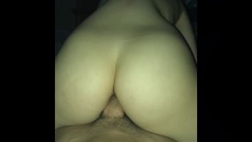 Reverse cowgirl omg his cock feels so fucking good